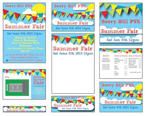 Summer Fair Published Pta Templates And Poster Kits Pta Pinterest Template Summer And File Summer Poster Template