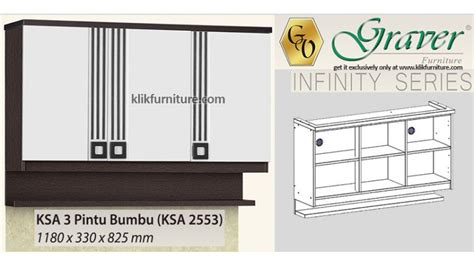 Rak Dapur Atas 2 Pintu Kaca Graver Infinity Ksa 2562 harga ksa 2553 pintu 3 atas rak graver infinity sale