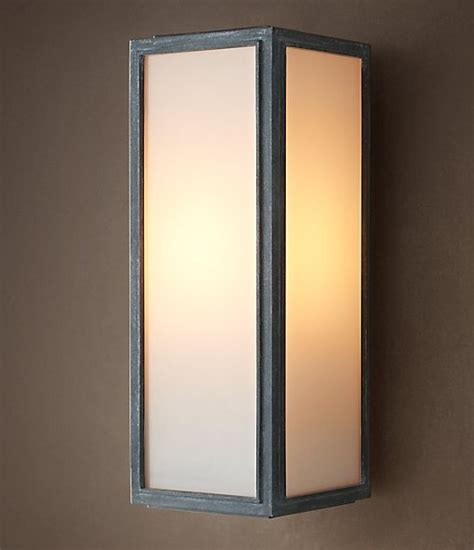 loft light box wall sconce contemporary wall sconces