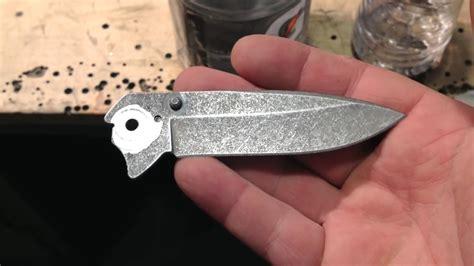diy knife knife refinishing diy acid etching and stonewashing