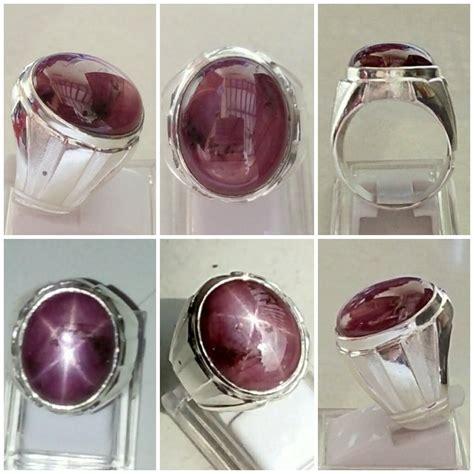 Cincin Perak 925 Ruby jual cincin perak 925 batu mulia ruby 6 mid size di lapak 789star arevamir