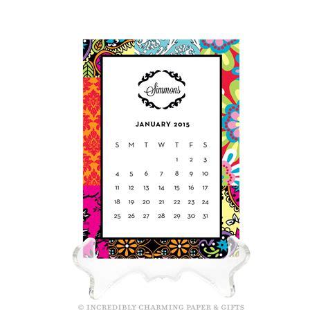 Personalized Desk Calendar Desk Calendar Personalized Desk Calendar Monogrammed