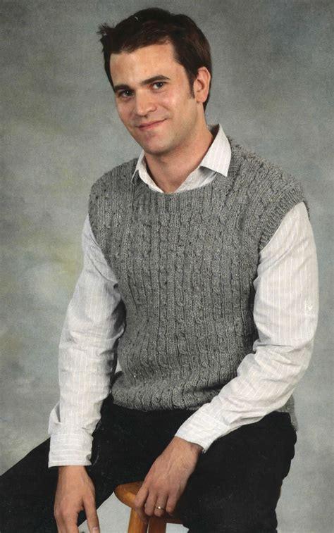 knitting pattern men s sweater vest men s vest knitting pattern halcyon yarn