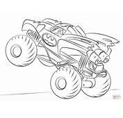 Disegno Di Batman Monster Truck Da Colorare  Disegni