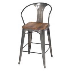 Bar Stool Sets Of 4 Metropolis Metal Counter Stool Wood Seat Gunmetal Set Of 4 Buy At Best Price Sohomod