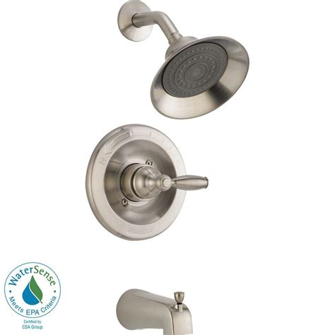 Brushed Nickel Shower Valve by Peerless Single Handle Tub And Shower Faucet Trim Kit In