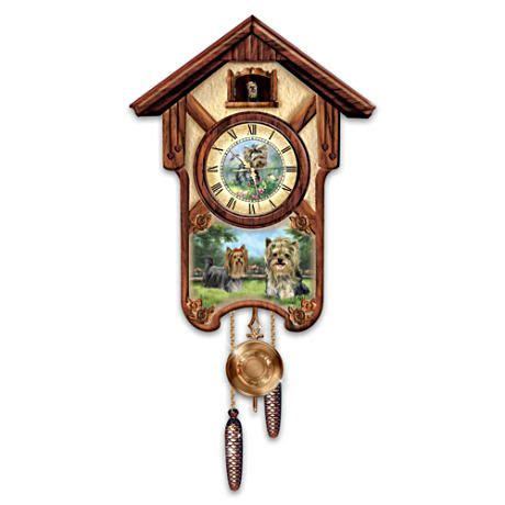 yorkie cuckoo clock yorkies cuckoo clock yorkie clock and pop out