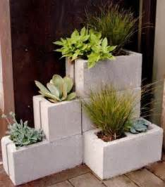 Ideas Design For Cement Planters Concept The Decorative Cinder Blocks Ideas For Decor Home Homestylediary