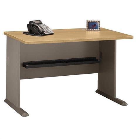 light oak computer bush business series a 48 quot desk in light oak wc64348