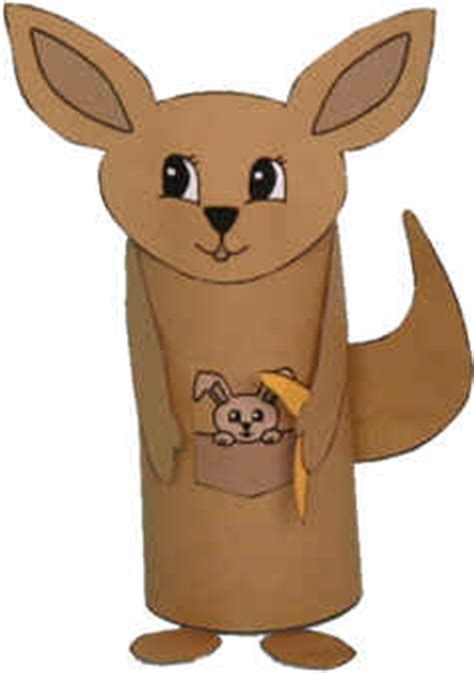 Dltk Toilet Paper Roll Crafts - kangaroo toilet paper roll craft