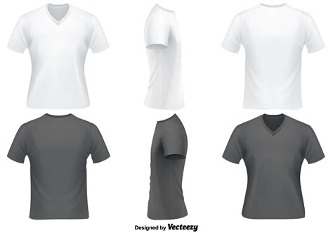 v neck t shirt template vector set of v neck t shirts template free