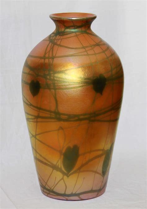 Vines Vase by Quezal Golden Vine Vase Large Collectors Weekly