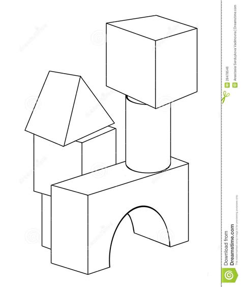Block O Coloring Page by Free Coloring Pages Of With Building Blocks