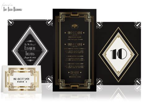 art deco wedding invitations template best template