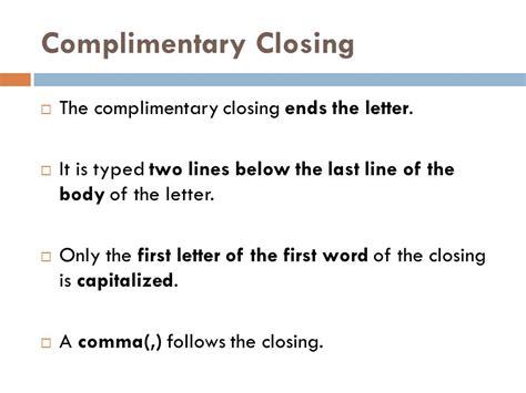 Closing Letter Capitalization Letter Memo Ppt