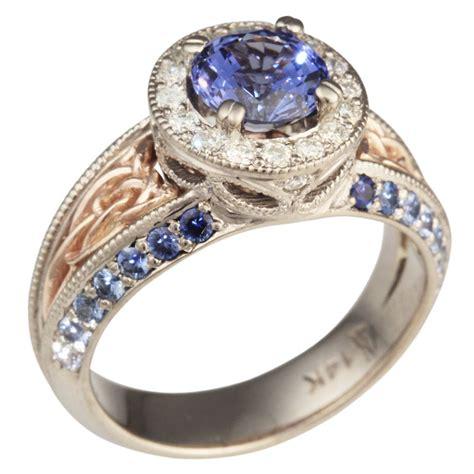 sapphire vintage celtic knot engagement ring ebay
