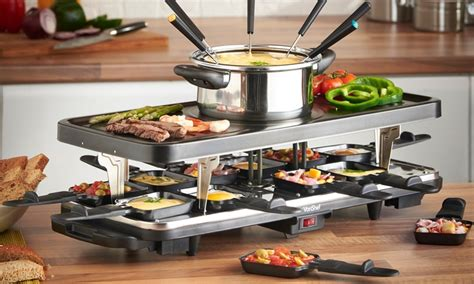 Raclette Grill Mit Fondue by Vonshef Raclette Grill Groupon