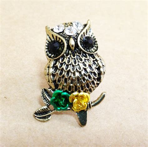 owl accessories owl ring antique bronze owl ring owl jewelry owl