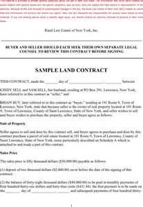 Agreement Letter Of Land Sle Land Contract For Free Tidyform