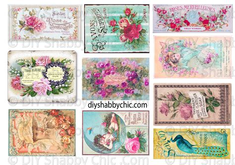 A4 Sheet Of Water Slide Decals For Crafts Walls Furniture Shabby Chic Decals