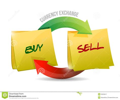 design online and sell buy sell currency diagram illustration royalty free stock
