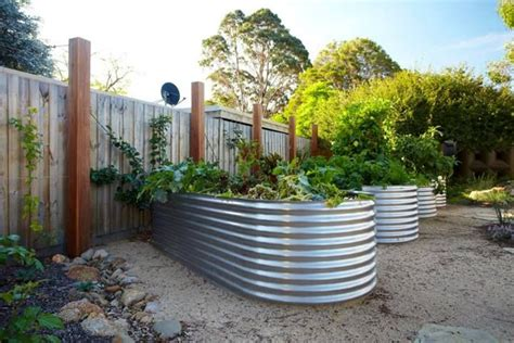 galvanized steel garden beds these owners certainly will never have to worry about