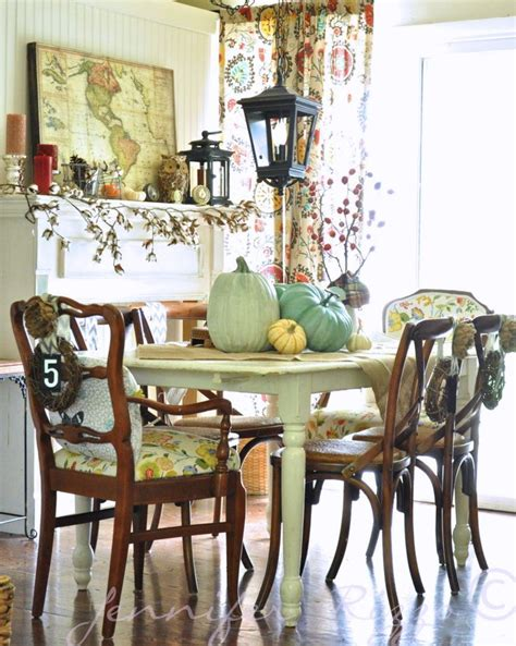 bohemian fall dining room for the home