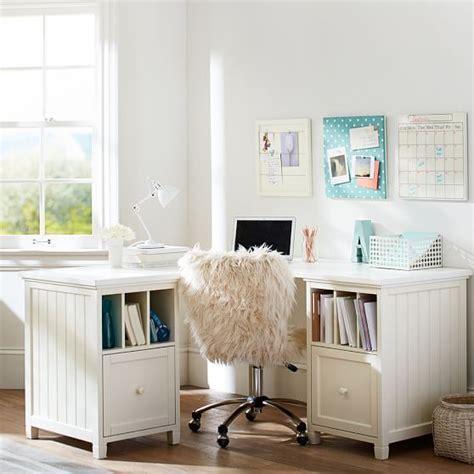 teenage desk beadboard corner divider desk pbteen