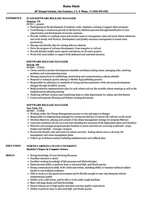 software release manager resume sles velvet jobs