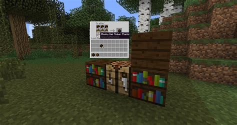 wood varied bookshelves suggestions minecraft