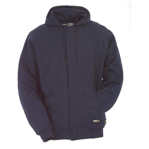 Fleece Sweatshirt berne 174 resistant fleece hooded sweatshirt 235353