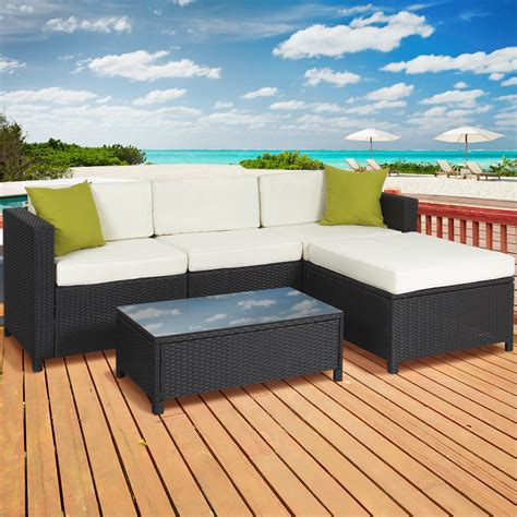 Outdoor Patio Furniture Cushioned Pc Rattan Wicker Cheap Wicker Patio Furniture Sets