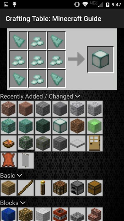 crafting table minecraft guide apk for android