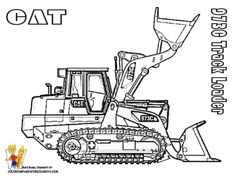 caterpillar excavator coloring pages construction coloring pages getcoloringpages com