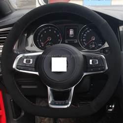 Steering Wheel Covers Vw Golf Xuji Black Suede Steering Wheel Cover For Volkswagen Golf