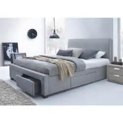 lit tissu gris avec t 234 te de lit seattle 140 x 190 achat