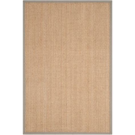home depot seagrass rug nuloom elijah seagrass with border beige 6 ft x 6 ft area rug bhsg01a 606r the home depot