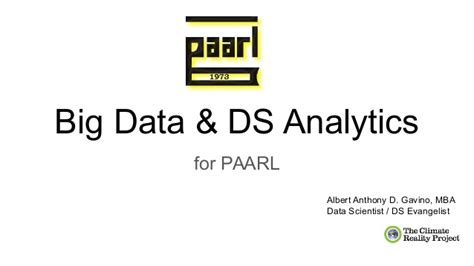 Mba Big Data Analytics by Big Data Ds Analytics For Paarl