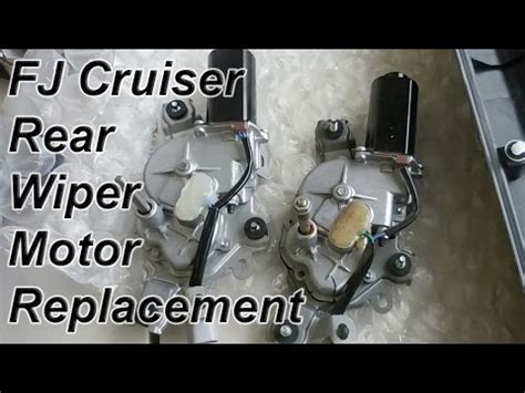 repair windshield wipe control 2005 lexus gx engine control fj cruiser rear wiper motor install replacement youtube