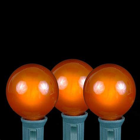 100 Orange G40 Globe/Round Outdoor String Light Set on