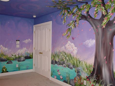Garden Bedroom Ideas Jaden S Dreaming Tree Custom Murals Painted Furntiure Creative Artwork Bedroom Ideas
