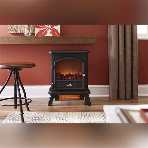 duraflame electric fireplace tv stand duraflame 500 black infrared freestanding electric