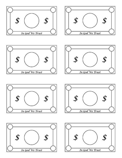 money template free printable play money free printable play money