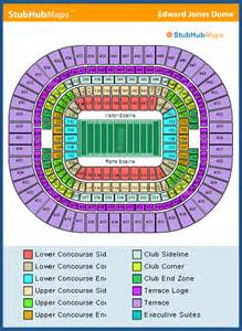 st louis rams seating chart edward jones dome seating chart pictures directions and