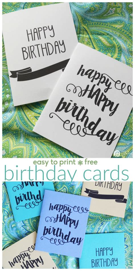Printable Free Birthday Cards For