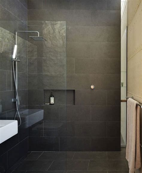 bathroom black tile room design ideas