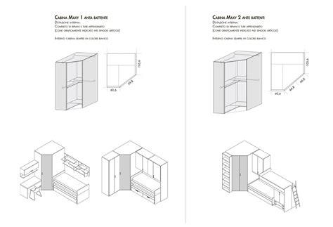 Dimensioni Minime Cabina Armadio by Cabina Armadio Per Cameretta Maxy Clever It