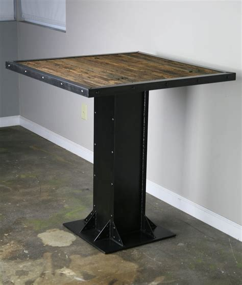 Reclaimed Wood And Steel Dining Table Buy A Made Bistro Dining Table Modern Industrial Design Steel Reclaimed Wood Great For