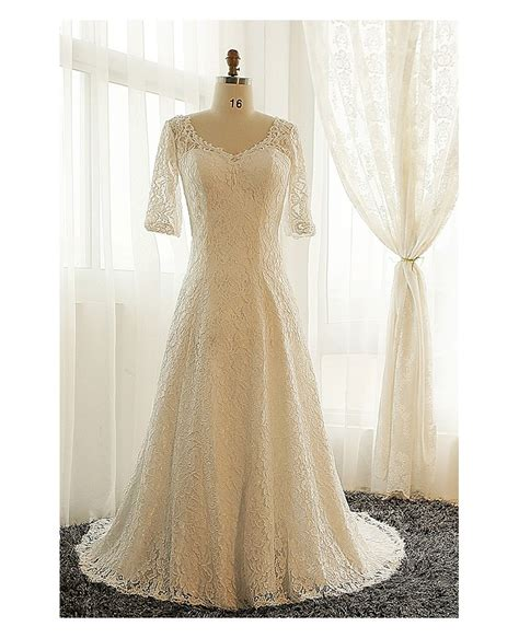 modest lace wedding dresses with sleeves best plus size lace wedding dress with sleeves ivory full