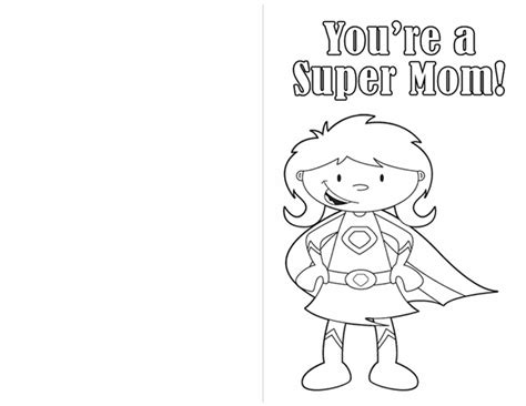 printable card for mom printable mother s day coloring pages that make for the